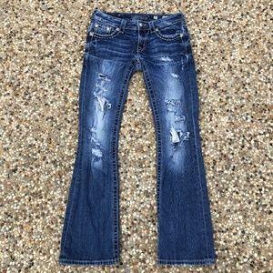 Miss Me Jeans 27 Bootcut Destroyed Embellished